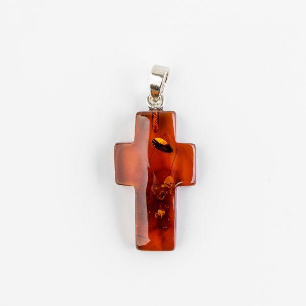 Amber pendant cross