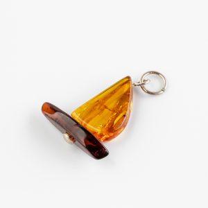 Amber ship pendant